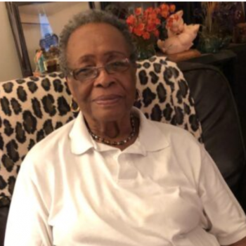 "Ms. Virginia Byrd, resident of Forest Hill Heights, says she loves the meals and the produce delivered to her door. ""I have never cooked kale before, but I gave it a try and I like it!"""